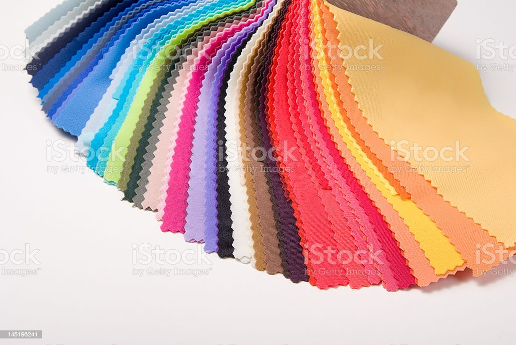 fabric color samples stock photo