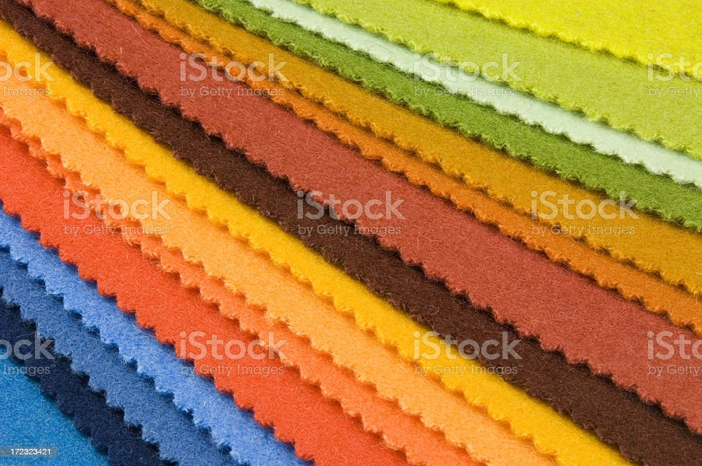 Fabric color swatch royalty-free stock photo