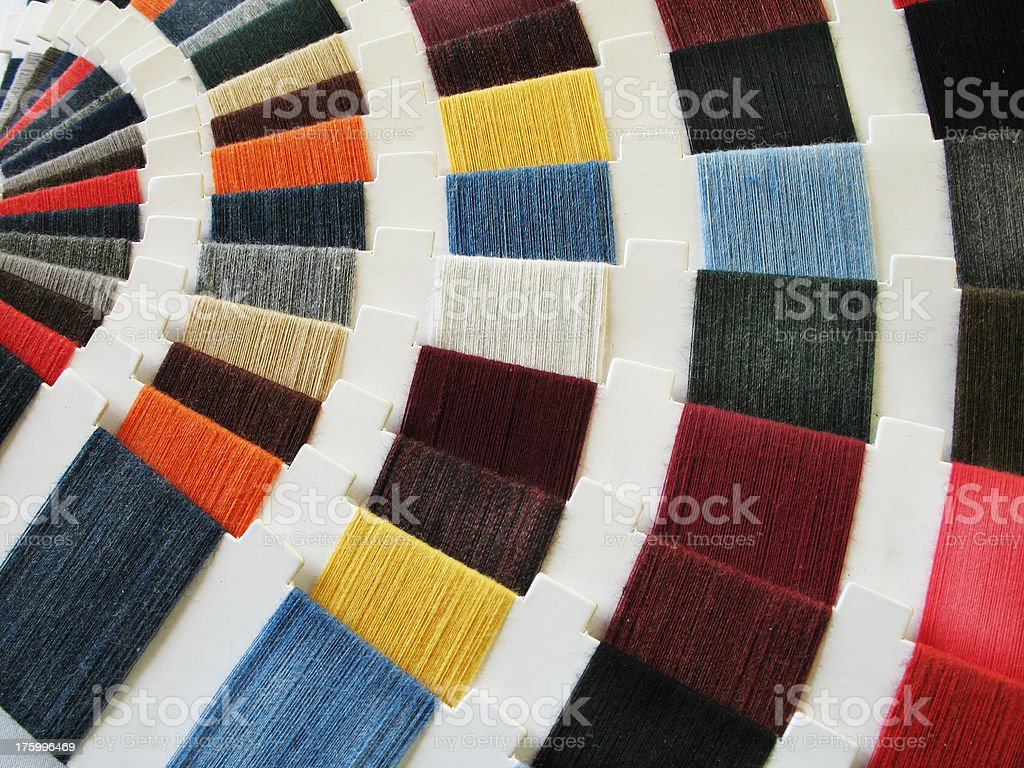 Fabric Color Swatches royalty-free stock photo