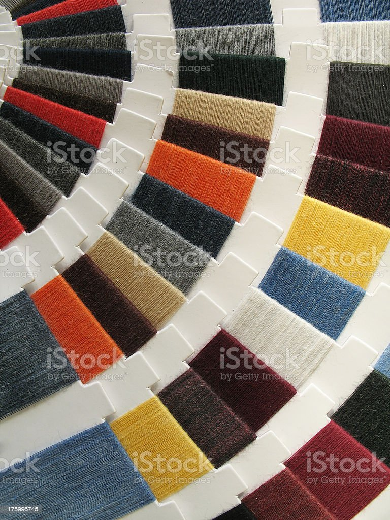 Fabric Color Swatches stock photo