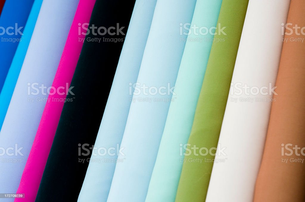 Fabric Colour Choices royalty-free stock photo