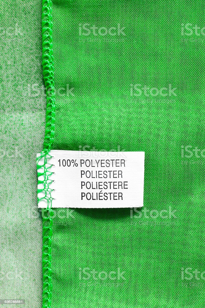 Fabric composition label stock photo