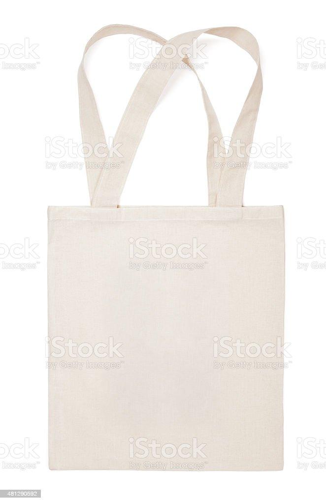 Fabric cotton eco bag on white stock photo