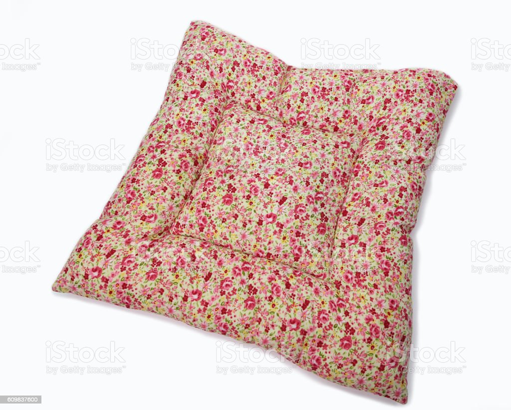 Fabric cushion covers stock photo