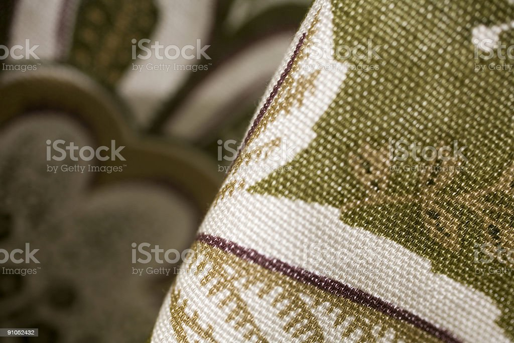 Fabric detail, texture background, earth tones royalty-free stock photo