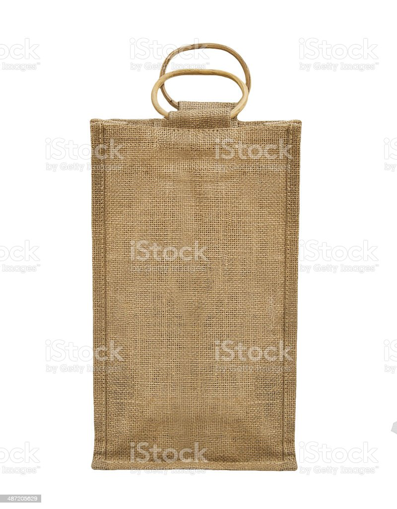 Fabric eco bag isolated on a white background stock photo