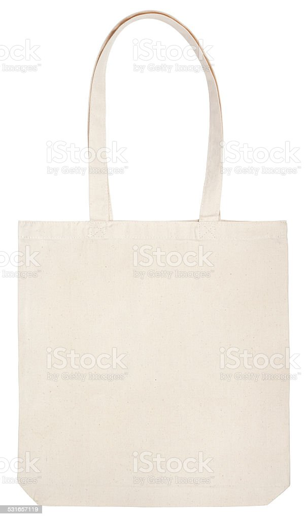 fabric eco bag on white stock photo