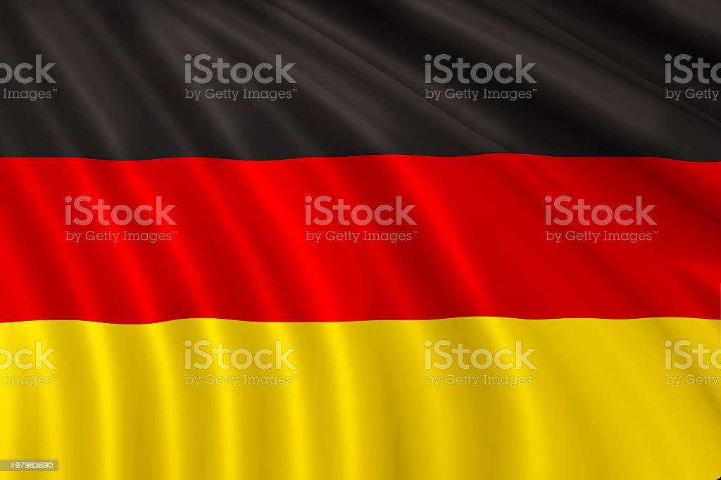 Fabric Flag of Germany stock photo