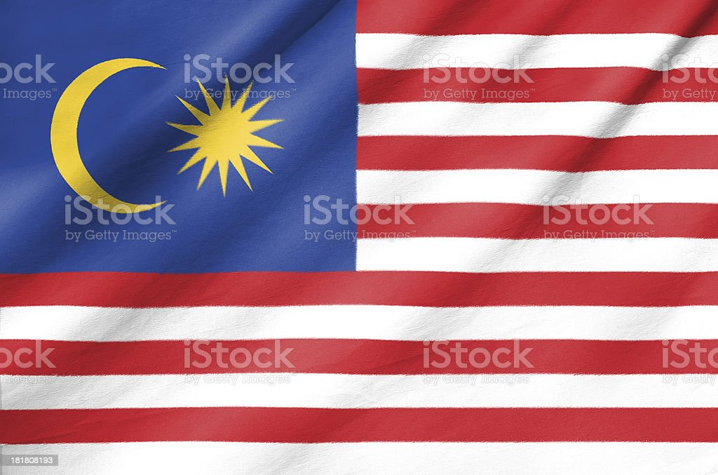 Fabric Flag of Malaysia royalty-free stock photo