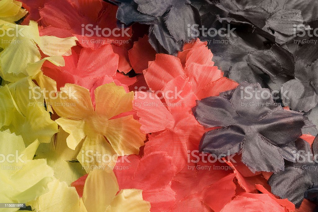 fabric flower back royalty-free stock photo