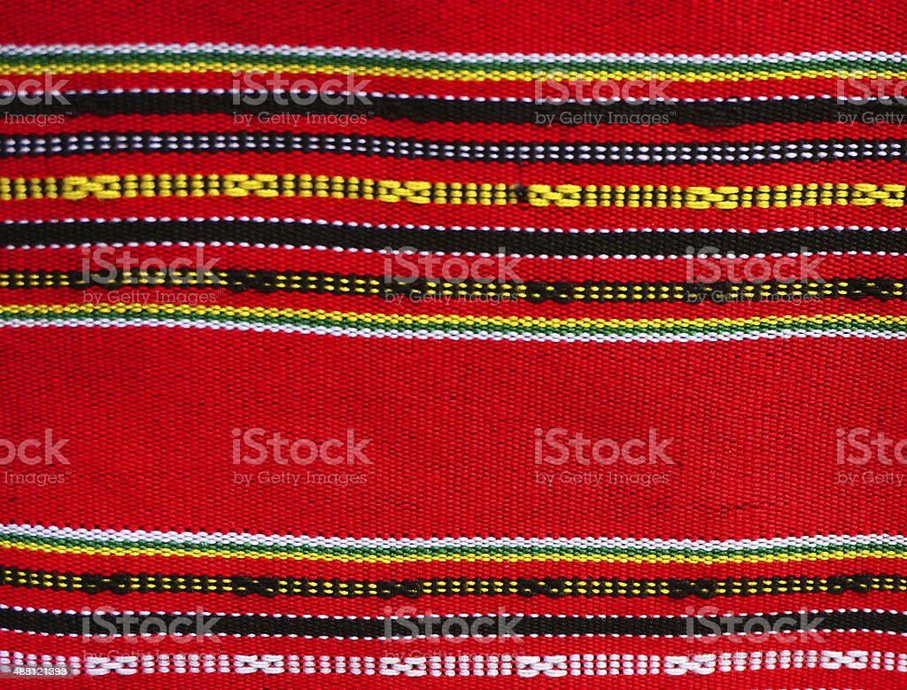 Fabric of lao style stock photo