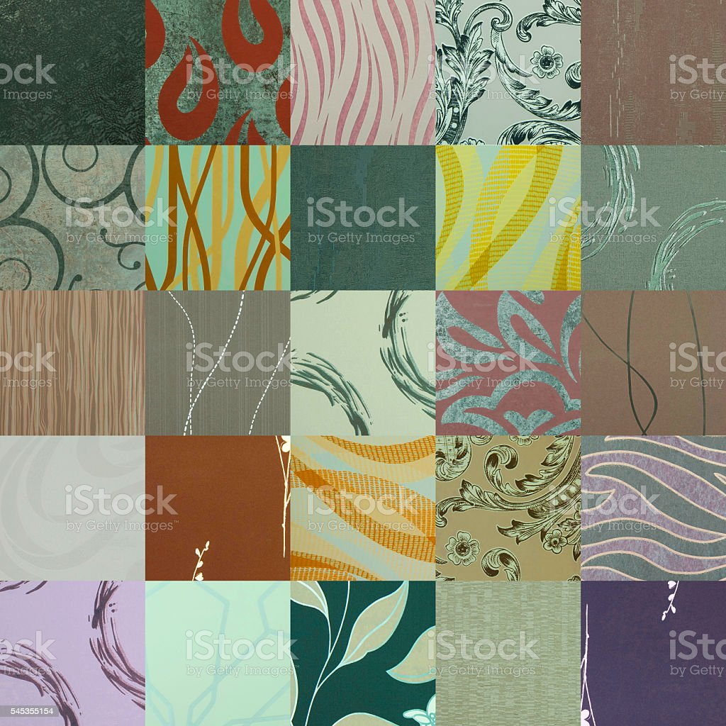 fabric patchwork pattern stock photo