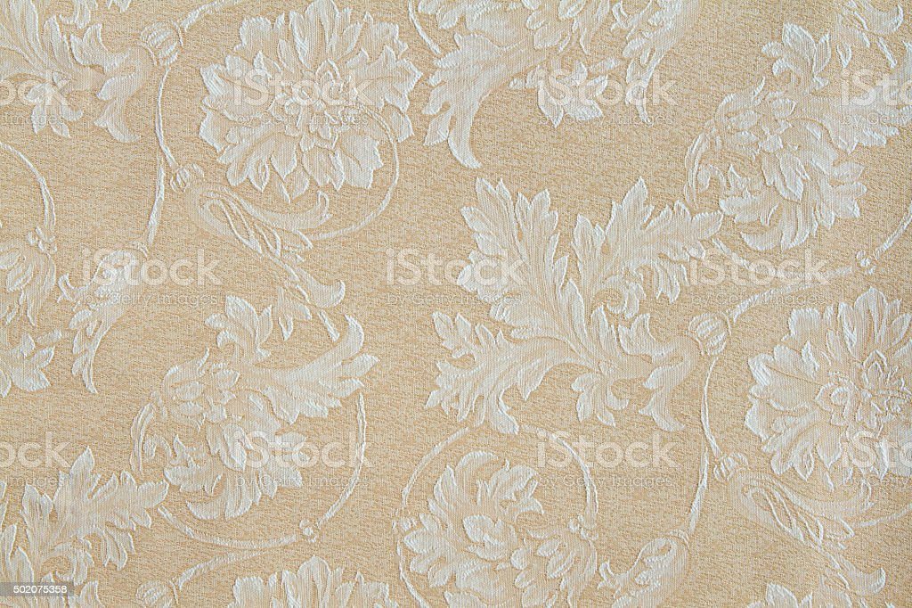 Fabric pattern with floral ornament stock photo