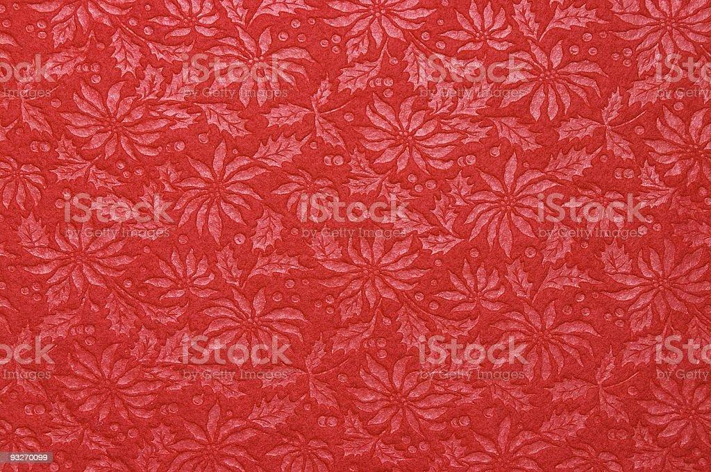 Fabric Patterns - Poinsettia royalty-free stock photo