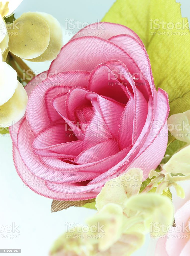 fabric pink rose flower royalty-free stock photo