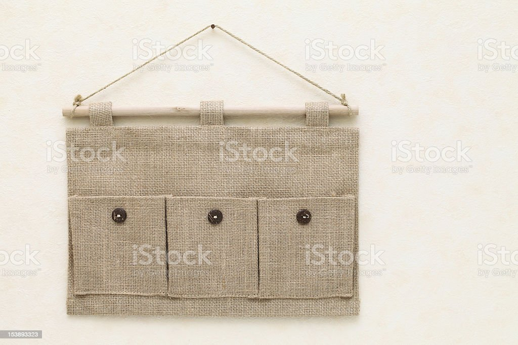 Fabric pocket stock photo