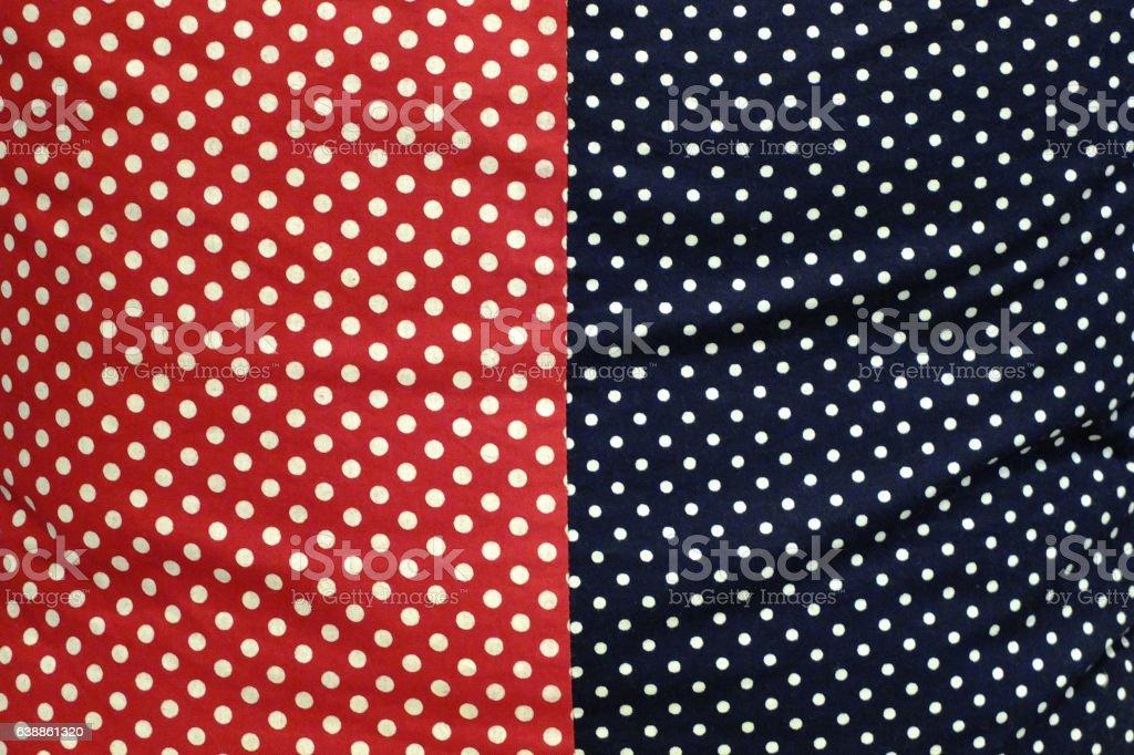Fabric Polka Dot Pettern Two Tone stock photo