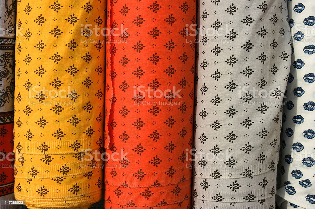 Fabric roll vertical stock photo