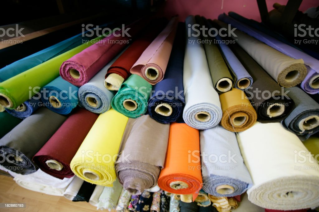 Fabric Rolls Galore royalty-free stock photo