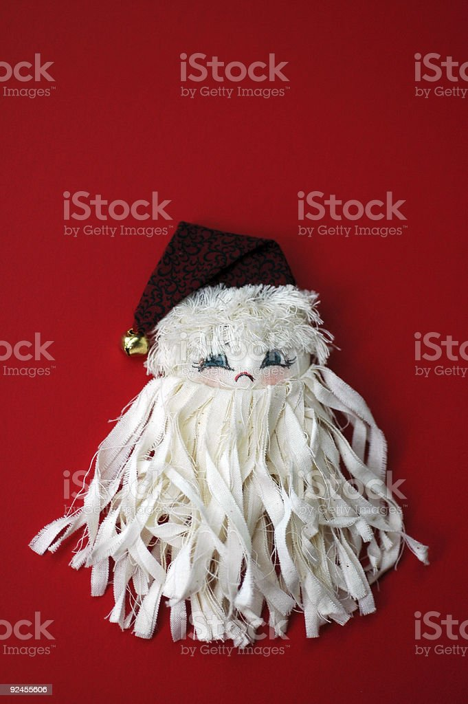 fabric Santa royalty-free stock photo