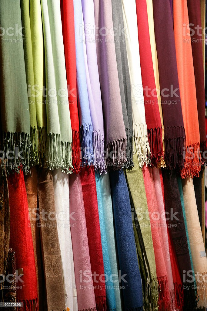 fabric, Scarfs royalty-free stock photo