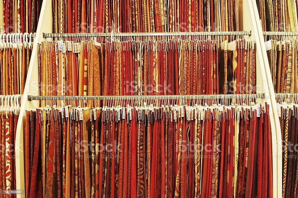 Fabric Swatch Rack Retail Display royalty-free stock photo
