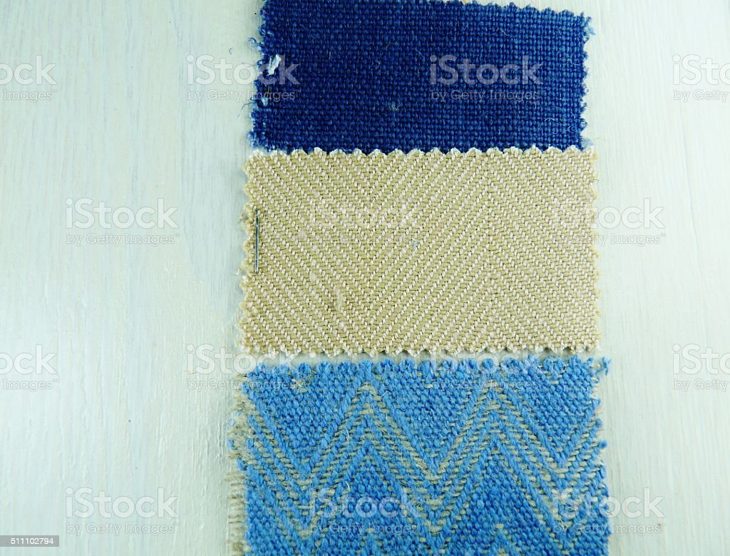 fabric swatch sample decoration on background stock photo