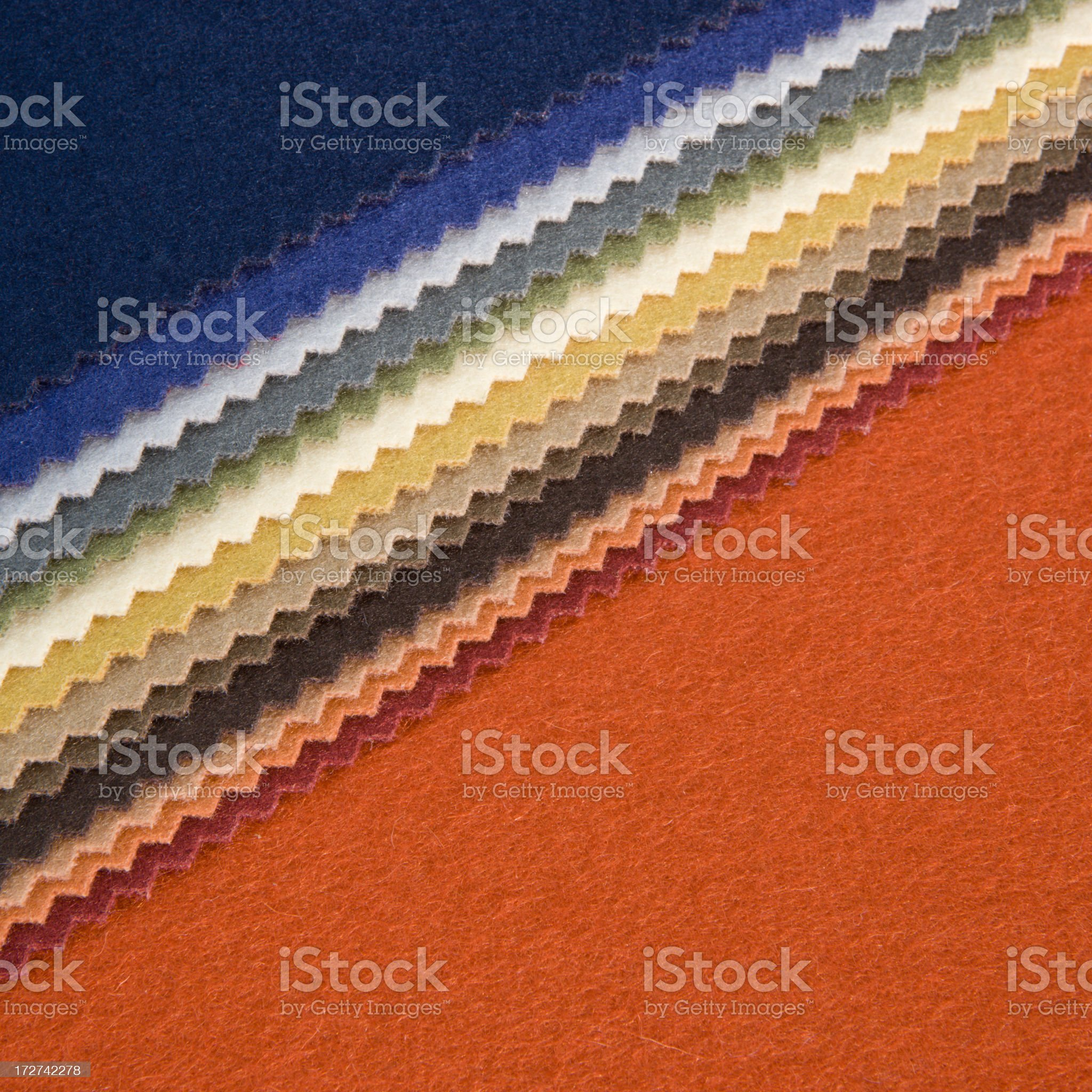 Fabric Swatches on Orange royalty-free stock photo
