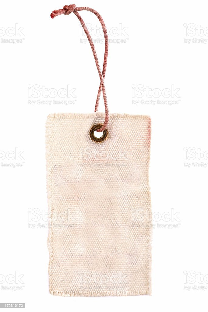 Fabric Tag stock photo
