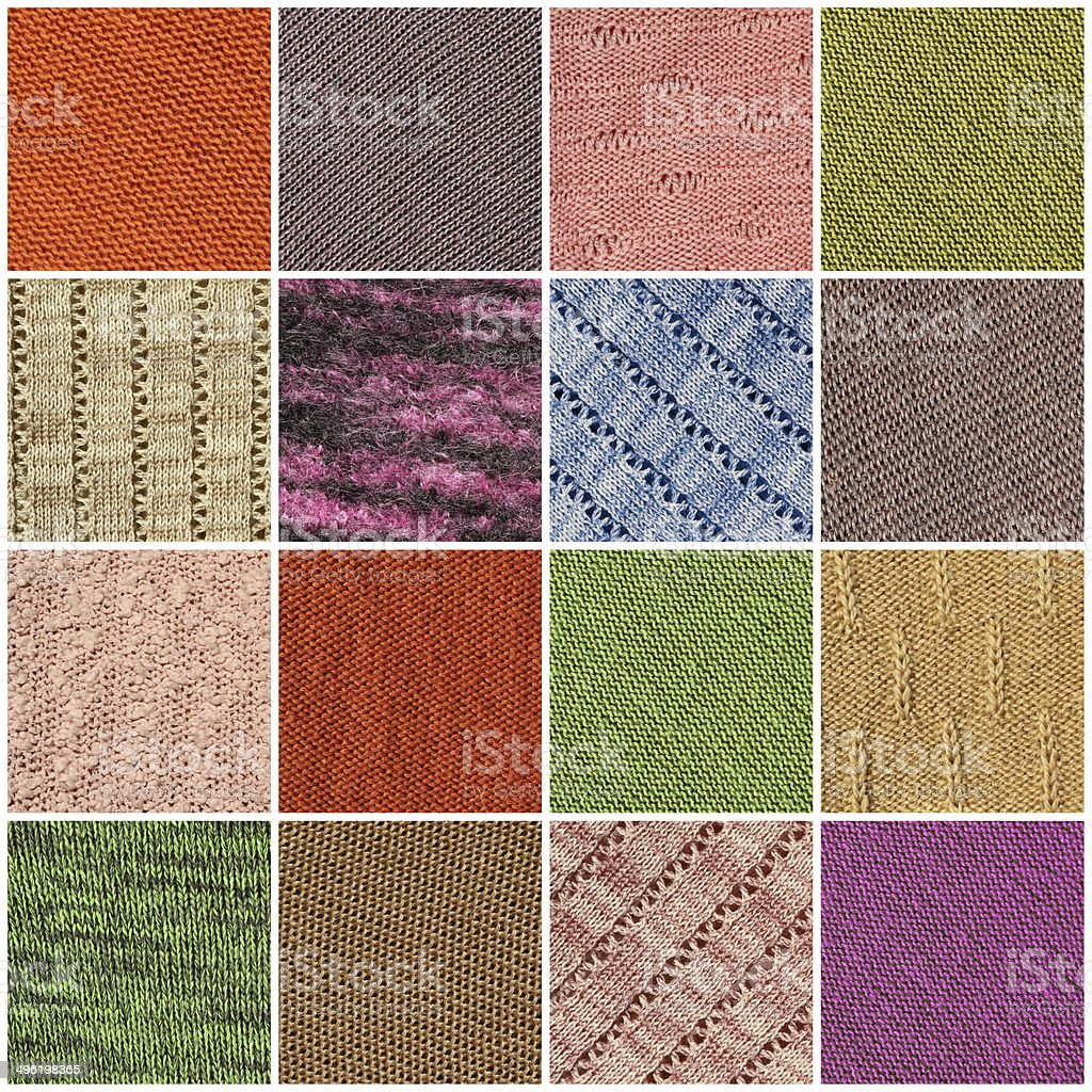 fabric texture collage stock photo