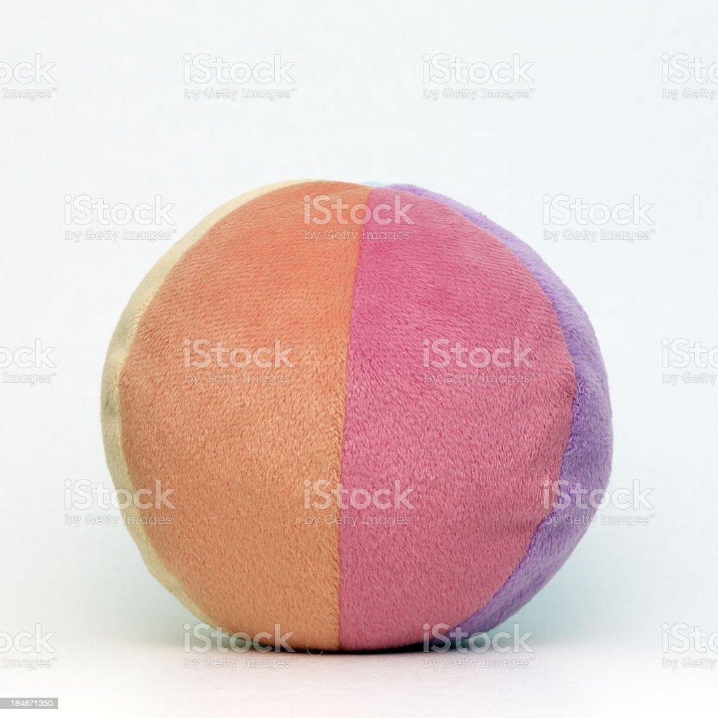 Fabric toy ball stock photo