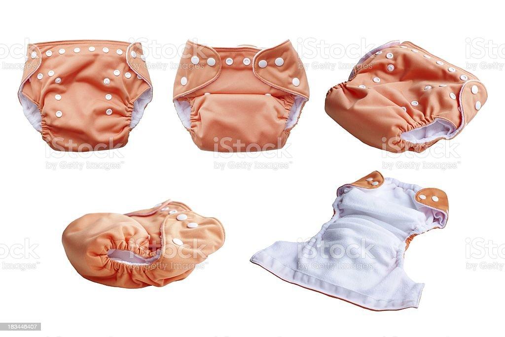fabric washable diaper stock photo