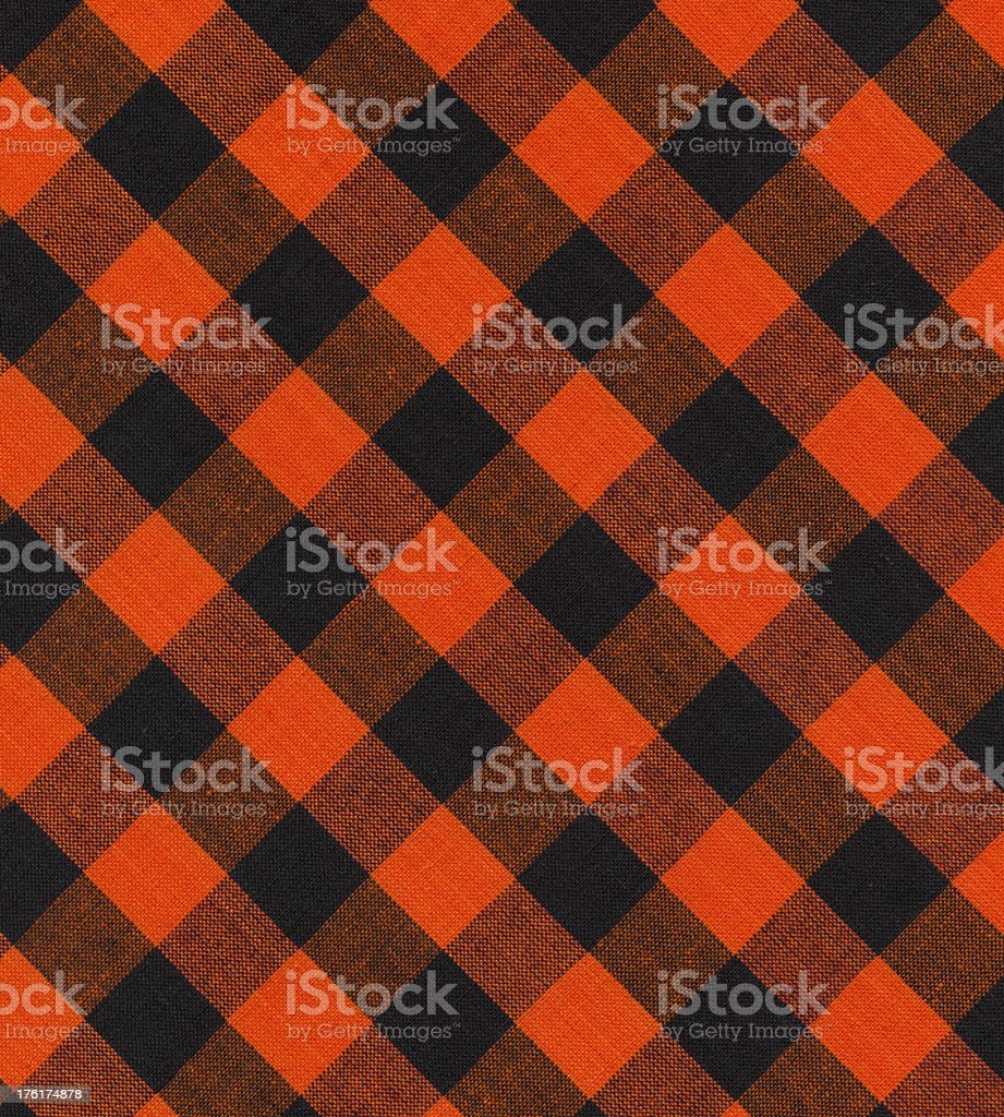 fabric with orange and black pattern stock photo