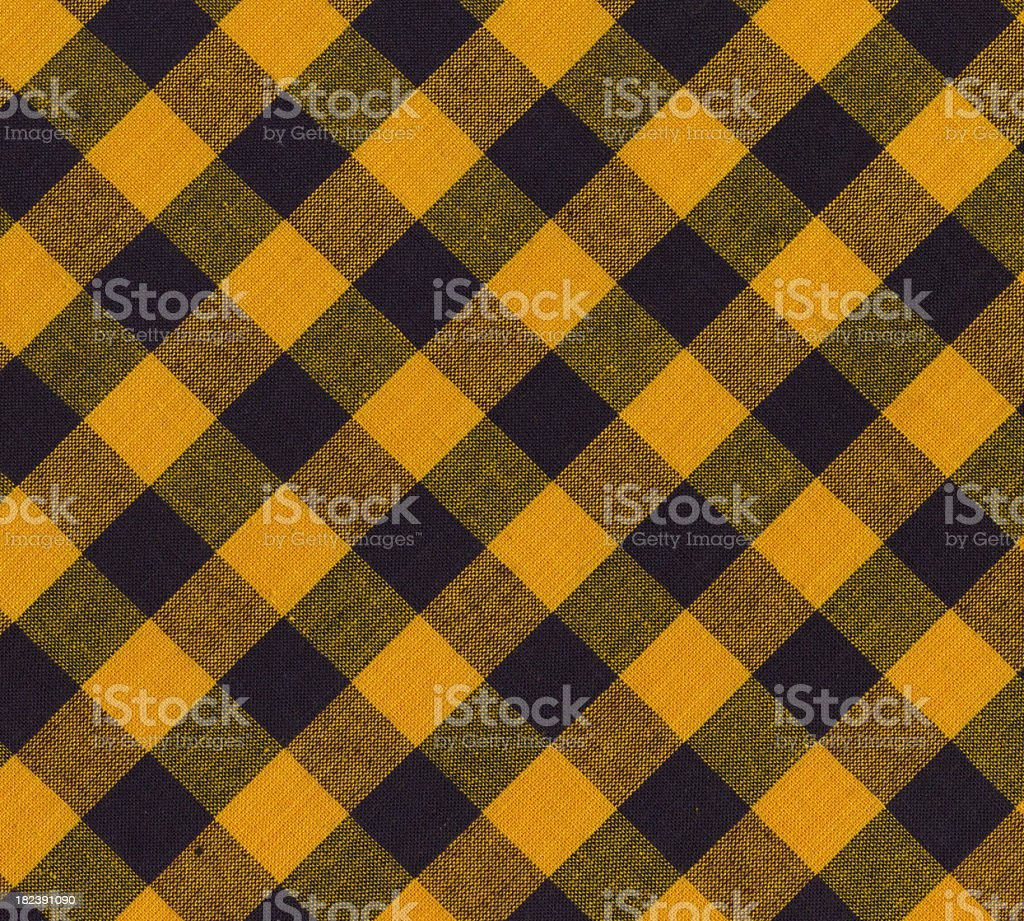fabric with yellow and black pattern royalty-free stock photo