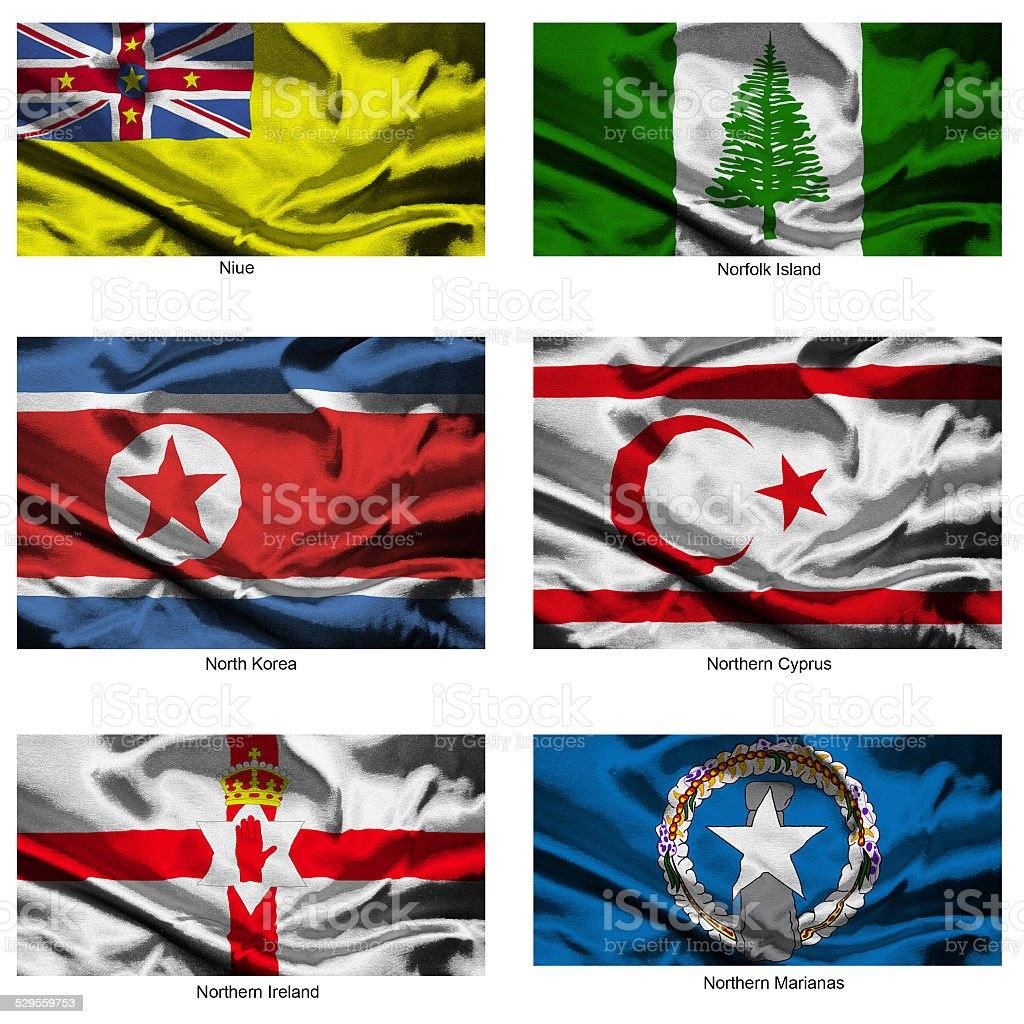 fabric world flags collection 28 stock photo