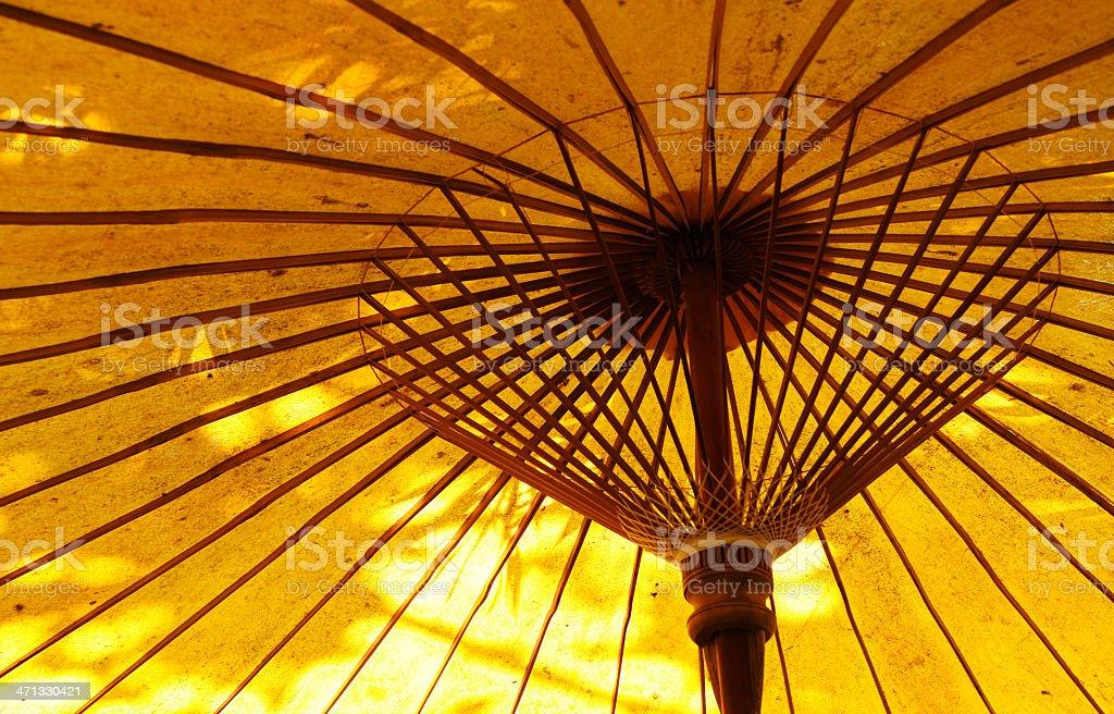 Fabric Yellow Umbrella royalty-free stock photo