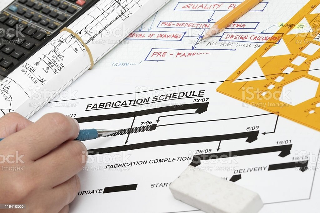 Fabrication schedule royalty-free stock photo