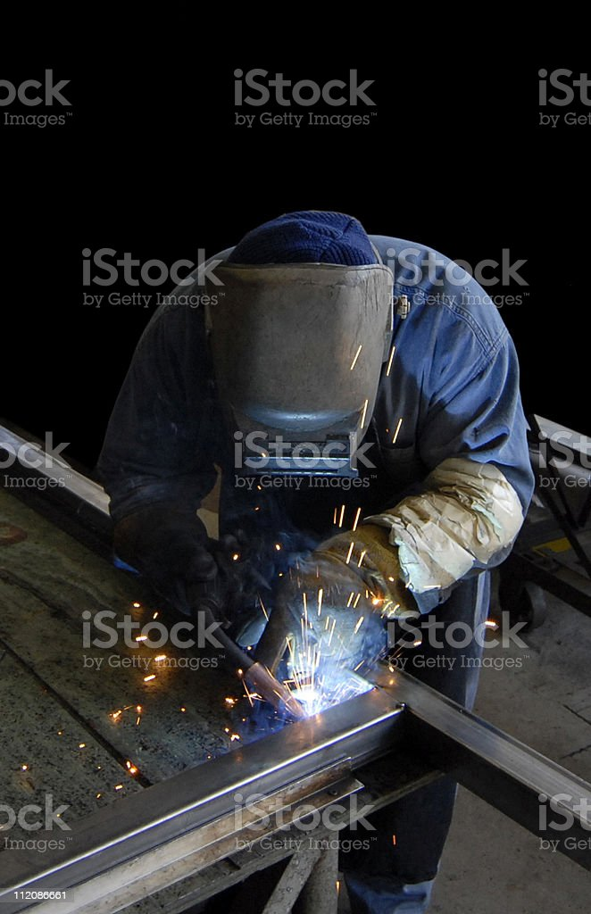 Fabrication Welder royalty-free stock photo