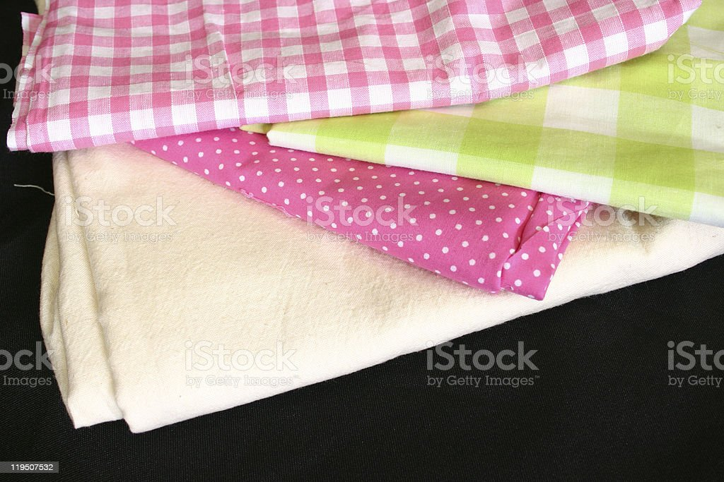 Fabrics for Sewing and Craft royalty-free stock photo