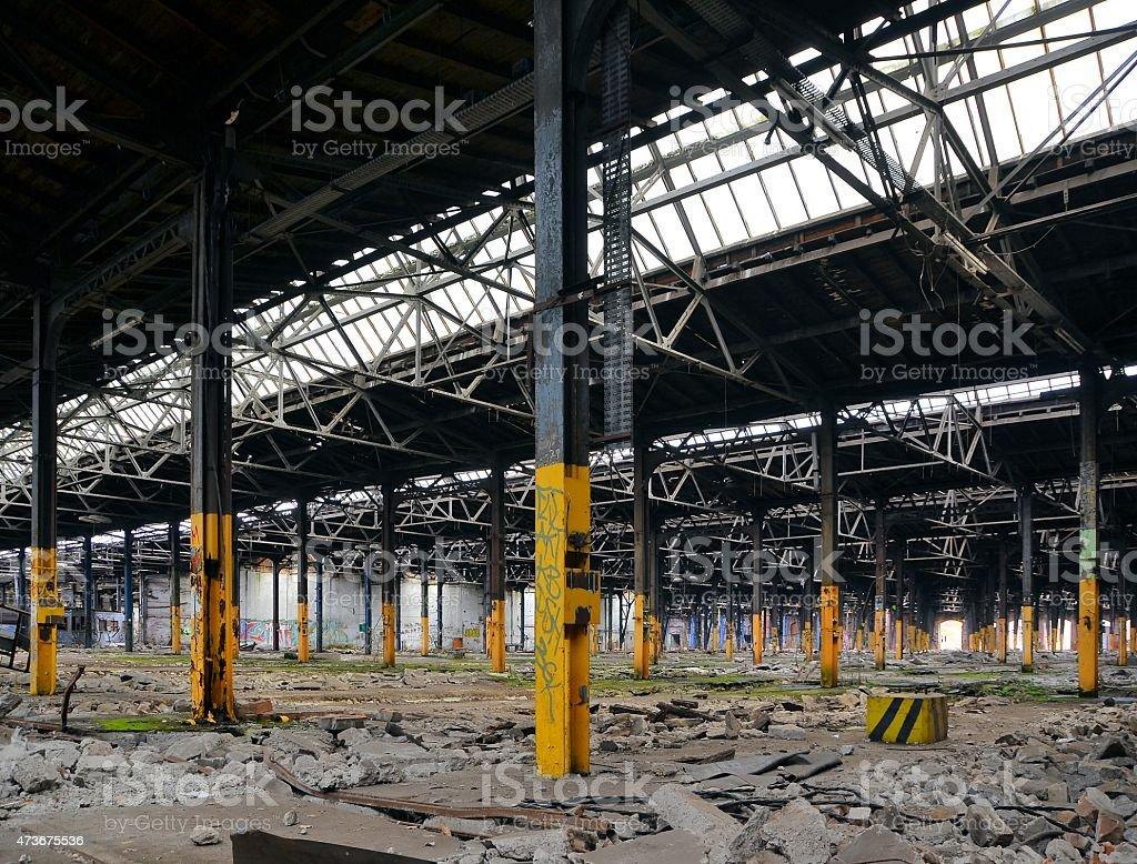 Fabrikhalle stock photo