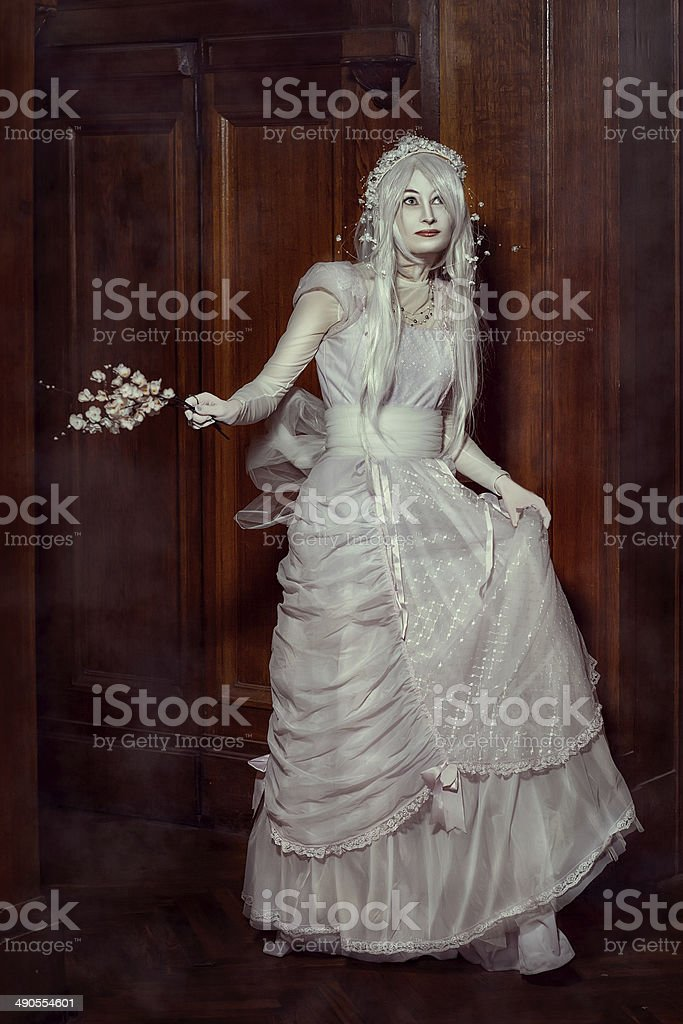 Fabulous girl elf. stock photo