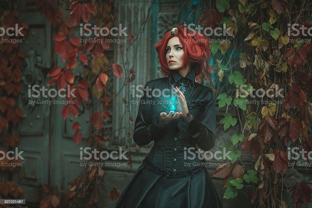 Fabulous girl with an hourglass. stock photo