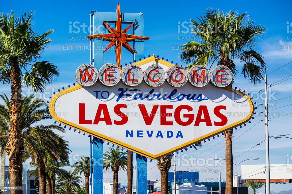 Fabulous Las Vegas sign stock photo