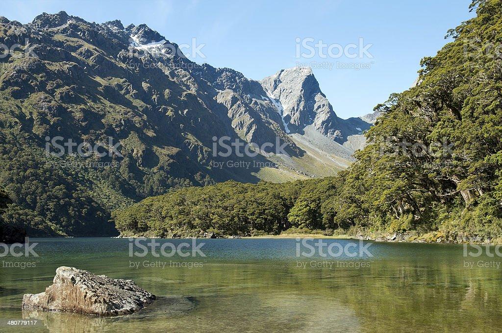 Fabulous scenery in New Zealand stock photo