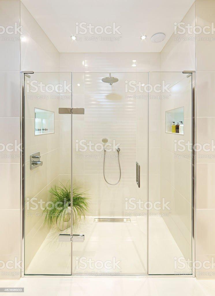 fabulous shower room stock photo