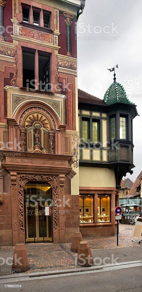 facade detail in Sélestat stock photo