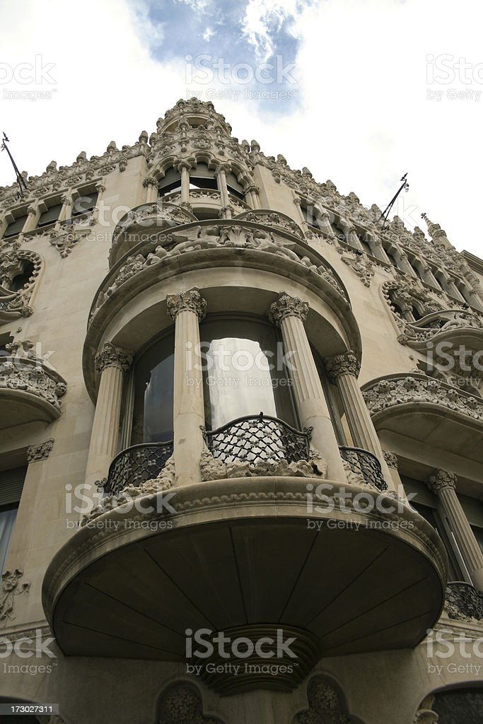Facade detail stock photo