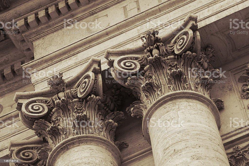 Facade exterior of San Giovanni in Laterano cathedral stock photo