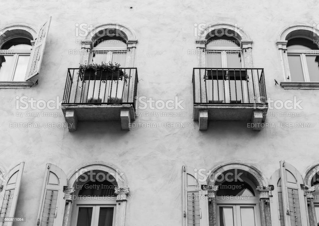 Facade in Trento stock photo