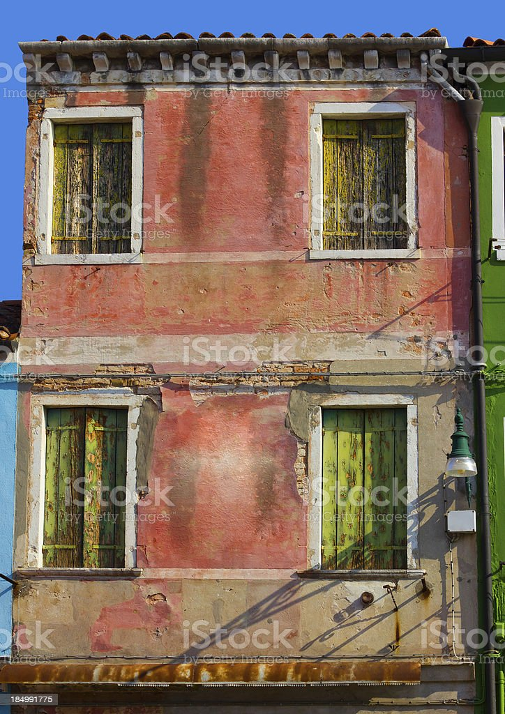 Facade in Venice stock photo